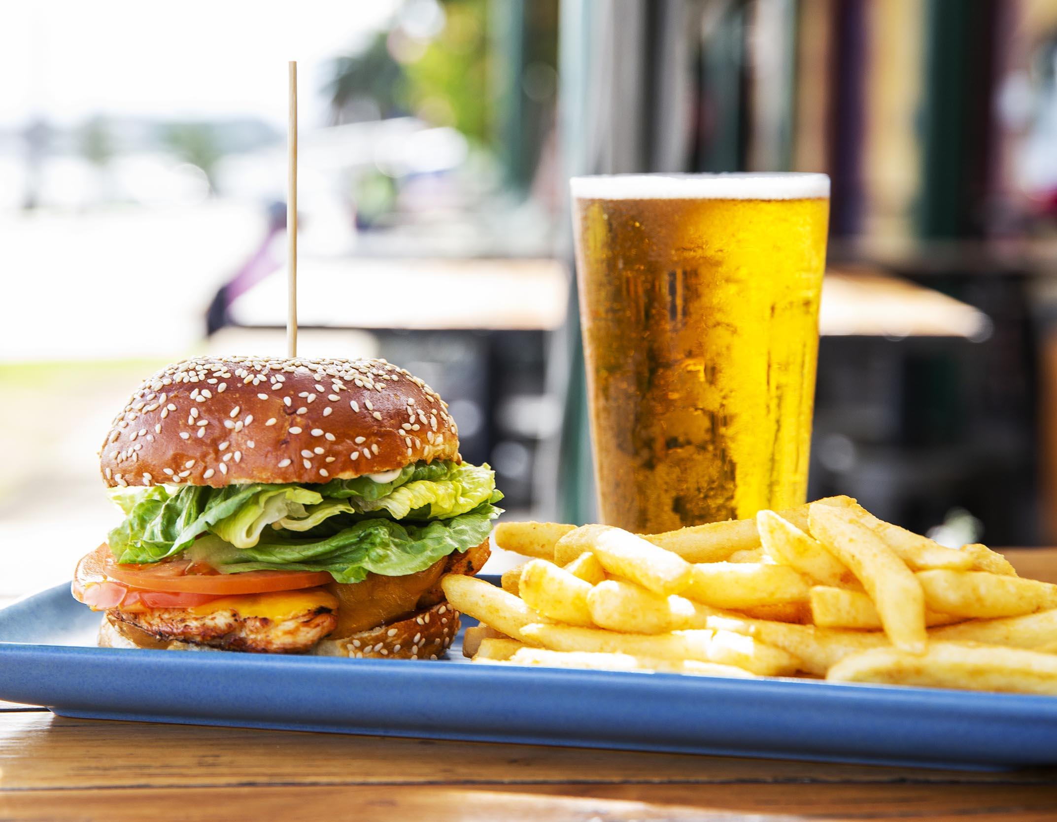 Winter Menu 2021 - Grilled Chicken Burger